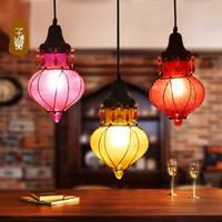 Cheap 10sq.m ~ Under Garden art creative color glass chandeli Best CCC Energy Saving lanterns creative