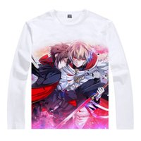 awesome anime cosplay - Yuichiro Krul Tepes Colorful T Shirts Anime Accessories Awesome Shirt Print Womens Long T shirts Cosplay Anime