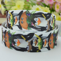 Wholesale quot mm The Penguins of Madagascar Printed grosgrain ribbon hairbow DIY handmade OEM YD