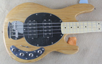 ash wood finish - Custom Ash Wood Body Music man Strings Bass Erime Ball StingRay Electric Guitar Natural Finish HH Active Pickup Chrome Hardware In StocK