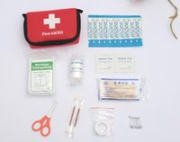 Wholesale Safe Outdoor Wilderness Survival Travel First Aid Kit Camping Hiking Medical Emergency Treatment Pack Set