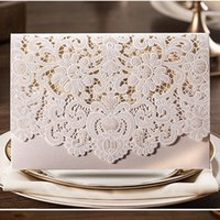 wedding place cards - New Champagne Floral Laser Cut Wedding Invitations Table Card Seat Card Place Card For Wedding Favors And Gifts cw072