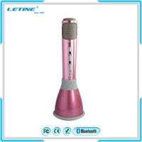 Wholesale Hot Sale New Product Bluetooth Karaoke Microphone with Mic Speaker Condenser For Andriod And IOS Mobile Phone China Factory Price