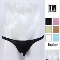 Wholesale new Sexy men s underwear Gay Men s briefs jockstrap underwear Luxurious design Nylon briefs transparent mens sexy