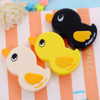 Wholesale 10pcs Cute Duck Shape Correction Tape Office School Supplies Kid Children Prize Gifts Material Escolar Papelaria