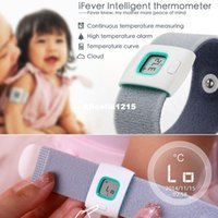 Wholesale iFever Baby intelligent thermometer Bluetooth Smart Wearable termometro health monitors electronic baby infrared thermometer