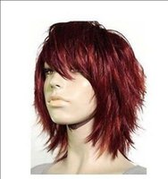 Wholesale short women s red brown hair wigs
