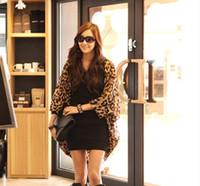 Wholesale summer thin woman blouse chiffon leopard print kimono cardigan bawting long sleeve jackets blusa chifon blusas feminina