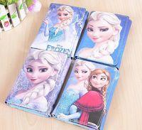 animations purse holder - 8pcs frozen Ana Elsa Wallet Fashion Wallet Cartoon animation creative off children s birthday gift Purse Wallet