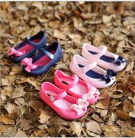 baby fragrance - Korean Style New Baby Girls Princess Bow Sandals Toddler Soft Shoes Mini Melissa Same Style Jelly Shoes with fragrance