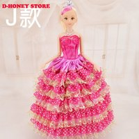 barbi doll - 30cm Barbies dolls Princess Toy Dolls With Clothing Gown Fashion Wedding Dress For Barbi Clothes Wears Dolls Toys For Girls Children Gift