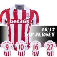Wholesale Stoke City season home fans edition jersey Marko SHAQIRI Crouch DIOUF BOJAN Home Football Equipment free delivery
