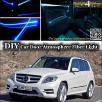 Wholesale interior Ambient Light Tuning Atmosphere Fiber Optic Band Light For Mercedes Benz GLK Class Door Panel illumination Refit
