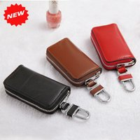 ans key - New Arrival High Quality Car Key Wallets Genuine Leather Zipper Purse Korea Women amp Men Key Holders Business Gifts ANS CL
