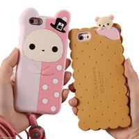 bear foods - Fashion Delicious Food Phone Protective Shell Cute D Biscuits Bear Rilakkuma Soft Silicon Case Cover For iPhone S Plus
