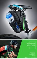 Wholesale ROCKBROS Outdoor Cycling Mountain Bike Back Seat Bicycle Rear Bag Nylon Bike Saddle Bag Bicycle Accessories Tail Pouch Package