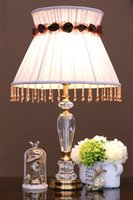 Wholesale Fashion crystal table lamps for bedroom luxury crystal table lamp brief modern american K9 luxury crystal decoration lamp