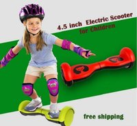 Wholesale USA Stock Kid Toys Electric Scooter Smart Balance Wheel Hoverboard quot Two Wheel Smart Children s Birthday Gift Skateboard Protective Tools