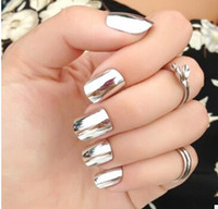 Wholesale 2016 hot Nail Glitter Powder Shinning Mirror Effect Nail g Makeup Powder Dust Nail Art DIY Chrome Pigment Glitters With Two Brushes