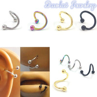 Wholesale 5pcs Mix Color Gauge Stainless Steel Ear Cartilage Piercing Nose Lip Rings Body Jewelry Piercing