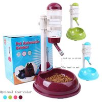 Wholesale 2016 New Arrival High Quality Multifunctional Dog Bowls Automatic Pet Drinking Fountains Combined Pet Feeder Pet Water Dispenser Four Colors
