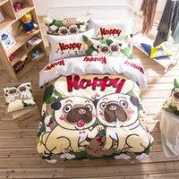 best comforter sets - MIFE COTTON A B Surface Bedding Set The Best Partner of Love Dog Printing Duvet Cover Bedding Set Bed Sheet King