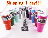 beer sales - 20 oz YETI Tumbler Rambler Cups Cooler Yeti Cup Stainless Steel Bilayer Beer Mugs Large Capacity Travel Mugs M ml Hot Sale