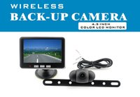 "Cheap 12V 24V Car Wireless Backup Camera Kit with 4.3"" LCD Monitor Rever View Reverse Parking Camera 120 Degree View Angle"