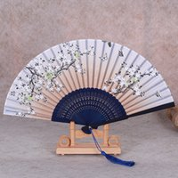 Wholesale Manufacturers straight two green one laugh fan creative craft fan craft gift silk fan lady fan handmade boutique