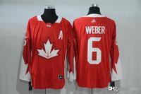 Cheap 2016 Mens Team Canada 6 Weber Red Olympics World Cup Hockey Ice NHL Jerseys Free Drop Shipping gally