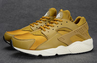 Wholesale 2015 New Air Huarache Shoes Gold Copper Grey Color Top Quality Running Shoes Unisex Men Women Size With Box SFMN
