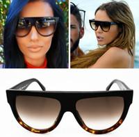 audrey fashion - New Famous Designers C line Brands Sunglasses Men Flat Top Smiley line Audrey CL41026 fashion women glasses lunettes de soleil