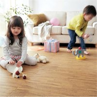 Wholesale High Quality Wood Floor Puzzles Mats EVA PE Waterproof Thick Squares Play Puzzles Mats for Childs Play Game