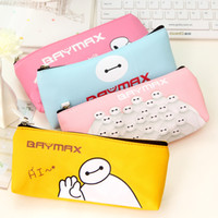 bd bags - Novelty Kawaii Big Hero The Baymax Pu Leather Pencil Case Stationery Storage Bag Children Prize School Office Supply BD