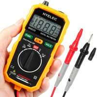 Wholesale 2016 Hot Non Contact Mini Digital Multimeter HYELEC MS8232 Ammeter Ohmmeter Thermometer DC AC Voltage Current Multitester