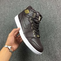 air jordans mens - Air Jordan Pinnacle Baroque Brown Gold Jordans I Original Quality With Original Box Mens Basketball Shoes Size US8 US13