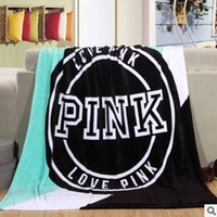 Wholesale throw Blanket fleece x150cm pink Manta Fleece Bedding Throws on Sofa Bed Car Portable Plaids Bedspread Hot Limited TV Blanket