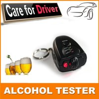 Wholesale New Arrival Car Key Chain Alcohol Tester Digital Breathalyzer Alcohol Breath Analyze Tester at3