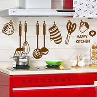 Wholesale Creative fashion the restaurant kitchen stove cabinet kitchen tool decoration sticker kitchen tile stickers