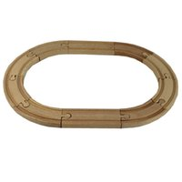 Wholesale 1 SET Beech Wood Thomas Train Oval Track Railway Vehicle Accessories Toys Oval Ellipse Wood Track Diameter CM
