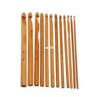 circular knitting needles - Fashion Hot set Sweater knitting Circular Bamboo Handle Crochet Hooks Smooth Weave Craft Needle Size