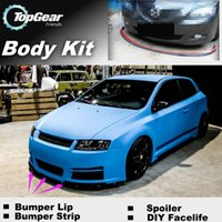 Wholesale For Fiat Stilo Front Skirt Deflector Spoiler For Car Tuning Bumper Lip Lips The Stig Recommend Body Kit Strip