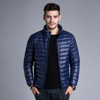 Wholesale Men s Ultralight Packable Puffer Down Jacket Quilted Outerwear Winter Outdoor Hiking Jacket with Storage Bag