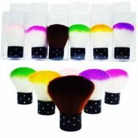 Wholesale 2pcs New Colorful Nail Tools Brush For Acrylic Uv Gel Nail Art Dust Cleaner Nail Brush