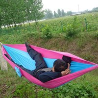 Wholesale Outdoor Camping Traveling People Leisure Parachute Hammock Portable Nylon Parachute Hammock Colors