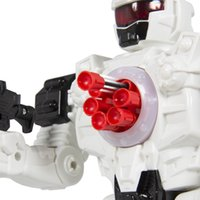 Wholesale Walking Remote Control Shooting Robot Police Toy Lights and Sound Effects