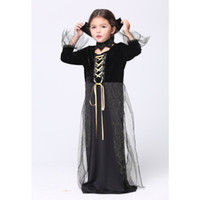 2016 Mignon Bébés filles Robe Halloween cosplay costume Enfants Cosplay Robes enfants Vêtements Costumes menina vestidos livraison gratuite DHL