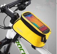 Wholesale Outdoor Waterproof Cycling Bicycle Bag MTB Bike Frame Tube Panniers Touchscreen Phone Case Reflective Bags