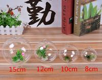Wholesale Glass Globe Terrariums glass vases flowers Dia cm Hanging Candles Holder Wedding Candlestick Garden Decor Home Decor Wedding Supplies