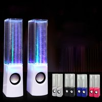 4.1 Universal Dancing Water Speakers USB Mini 2.1 Dancing Water Speaker USB LED Light Led Portable Speaker for PC MP3 MP4 PSP 3.5MM 2013 Novelty speaker